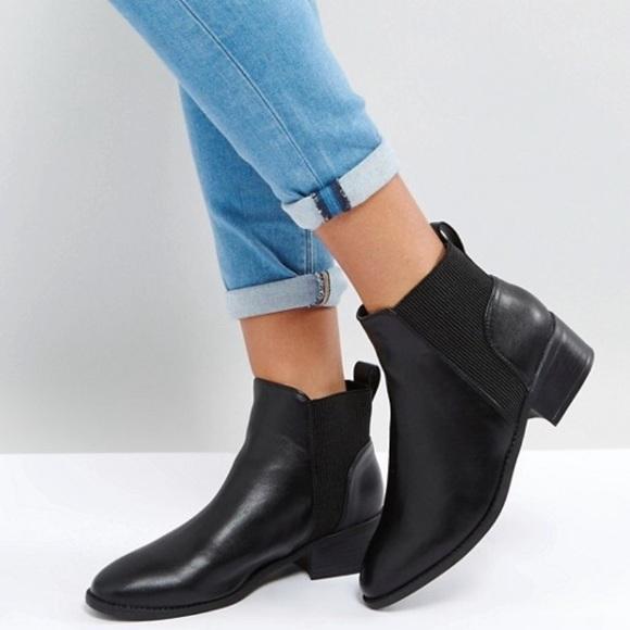 7581dc853da7a ASOS Shoes | Black New Look Ribbed Flat Chelsea Boot | Poshmark
